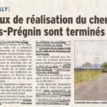 De nouveaux aménagements piétons et cycles à Saint-Genis-Pouilly