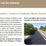 Des nouvelles des projets de pistes cyclables dans le bulletin municipal de Ornex
