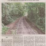Un article dans le Gessien sur la piste cyclable en cours de réalisation à Gex