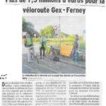 Des nouvelles de la véloroute dans un article du Dauphiné