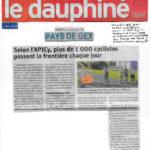 Un article du Dauphiné sur notre comptage