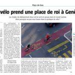 Un article du Gessien sur le vélo à Genève