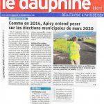 Un article dans le Dauphiné