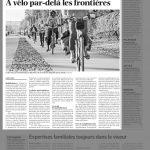 Un article du courrier sur le vélo dans l'agglo Genevoise