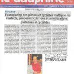 Article du Dauphiné Libéré sur nos activités
