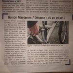 Article du Gessien sur l'étude d'une liaison vélo Maconnex –Divonne