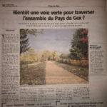 Une page sur les aménagements vélos futurs dans le Pays Gessien